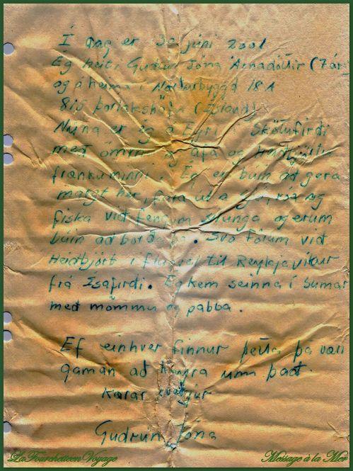 Message Bouteille  à  la mer 3