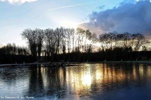 Versailles les-jardins au soleil couchant janv 17