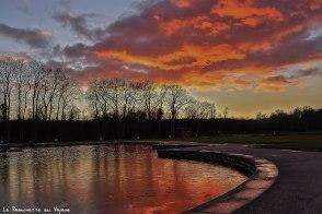 Versailles les jardins au soleil couchant janv 17